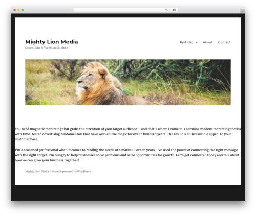 Twenty Sixteen free WordPress theme - mightylionmedia.com