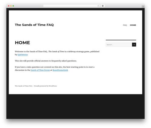 Free WordPress Spider FAQ plugin - sandsoftimefaq.com