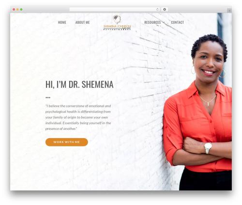 Vela top WordPress theme - shemenajohnson.com