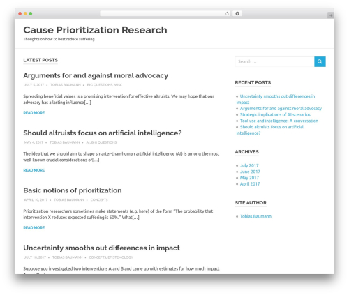 WordPress theme Poseidon - prioritizationresearch.com