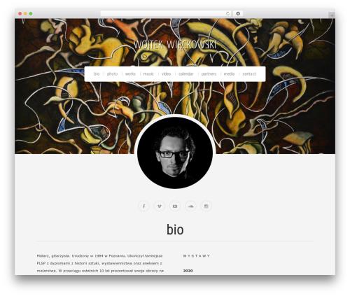 WordPress website template Organic Profile - wojtekwieckowski.com