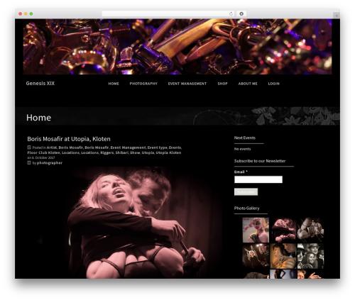 WordPress website template Premium Photography - gomorrha.ch