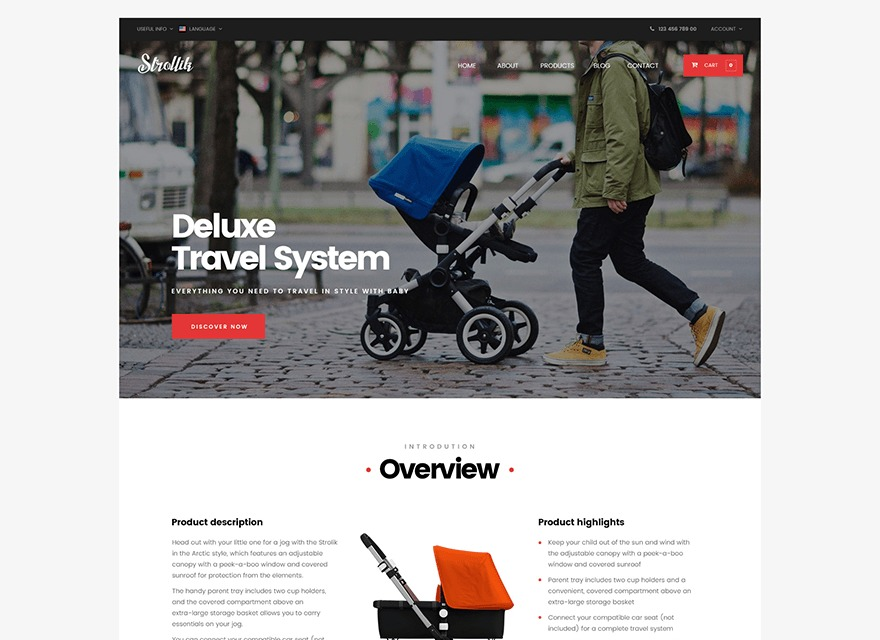 WordPress website template strollik