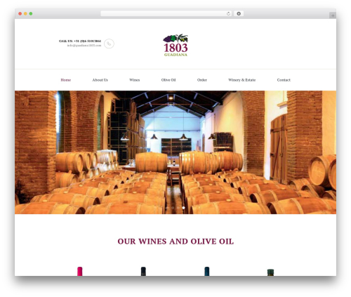 WordPress website template WineShop - guadiana1803.com