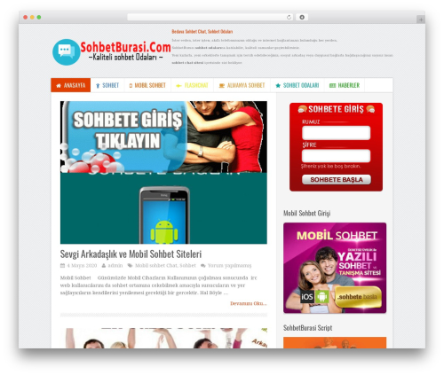 WP template TruePixel by MyThemeShop - sohbetburasi.com
