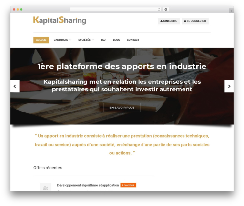 WP template WorkScout - kapitalsharing.com