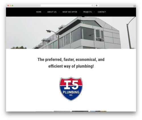 Argent theme WordPress free - i5plumbing.com