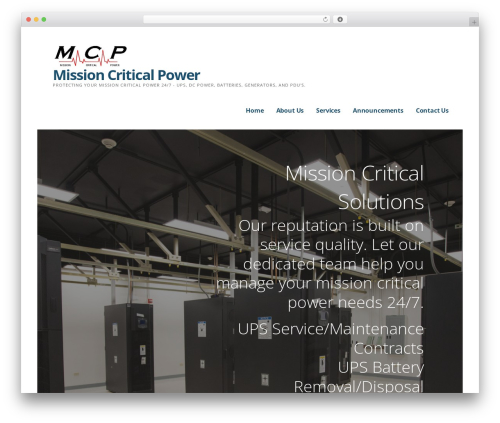 Ascension WordPress theme design - missioncriticalpowerga.com