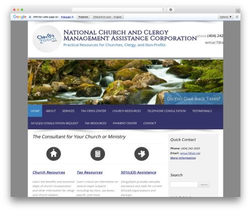 Best WordPress theme Customized - clergyzoom.com