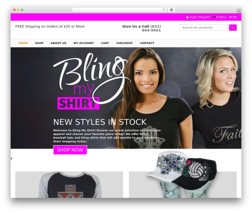 Best WordPress theme MAD - blingmyshirt.com