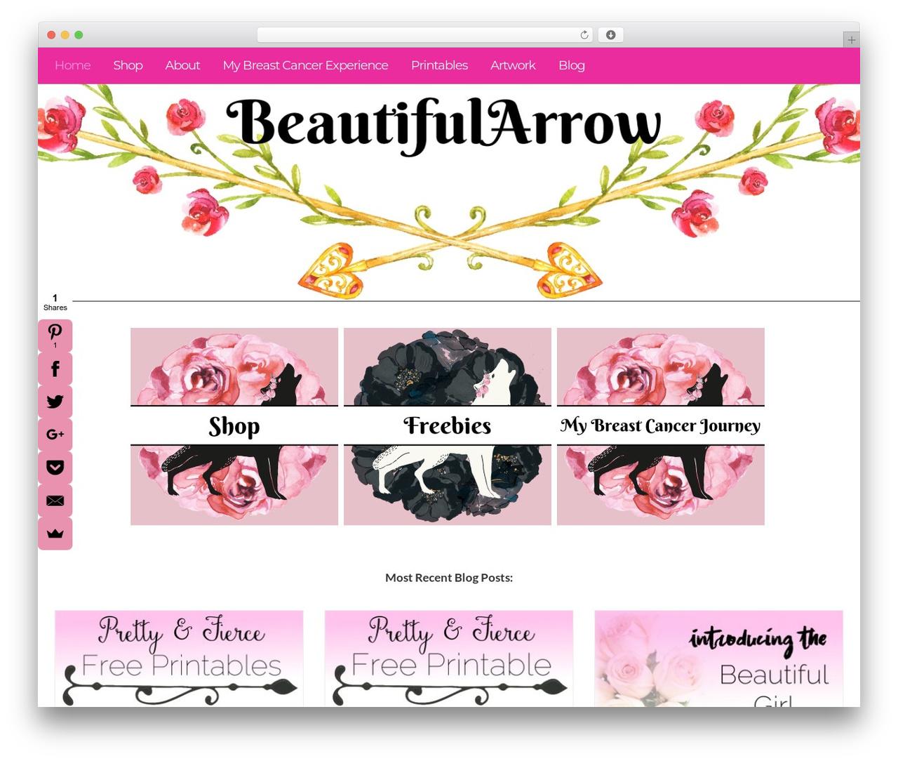 Boss Lady Theme Wordpress By A Prettier Web Beautifularrow Com