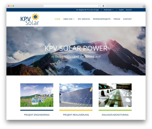 Divi top WordPress theme - kpv-solar.com