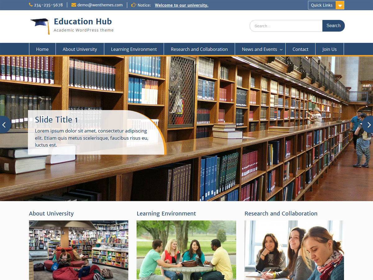 education-hub-child WordPress website template
