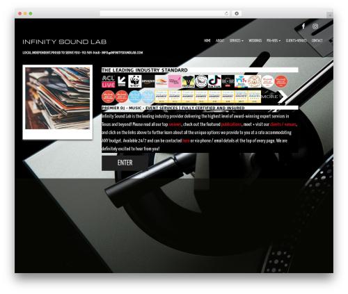 Evolv best wedding WordPress theme - infinitysoundlab.com