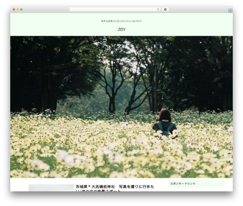 giraffe WordPress theme - joy-1000sun3.com