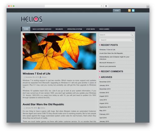 Helios template WordPress - stunbolts.com