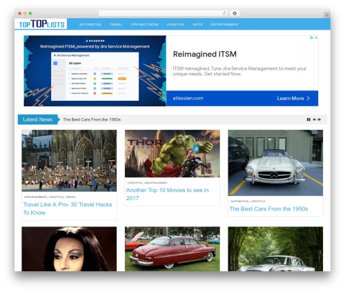 LevelPro motors WordPress theme - toptoplists.com