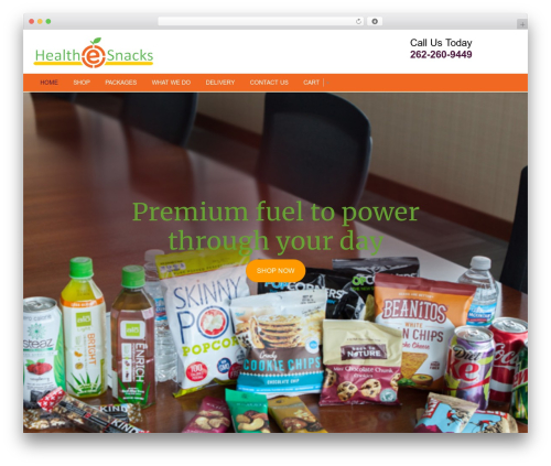 MAD theme WordPress - healthesnacks.com