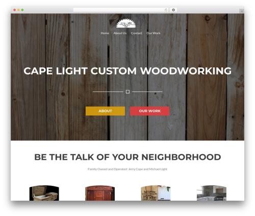 Rise Lite WordPress theme - clcwoodworking.com