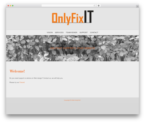 Senses Lite WordPress page template - onlyfixit.com