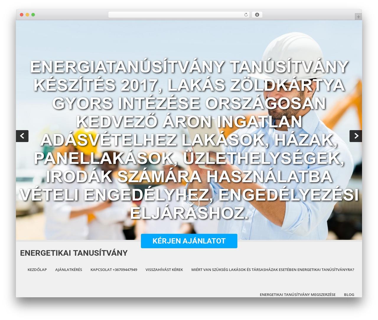SKT White WordPress theme design - energetikaitanusitvany.com