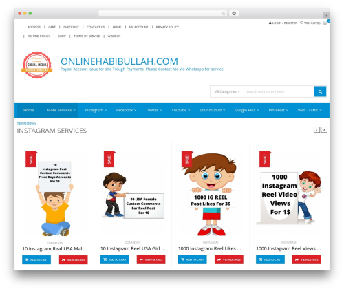 StoreVilla WordPress shopping theme - onlinehabibullah.com