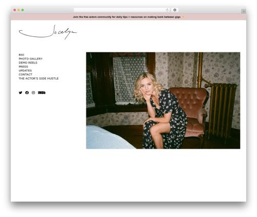 Theme WordPress Milo - jocelynpanton.com