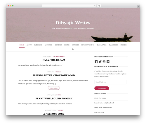 Type WP template - dibyajitbardhan.com