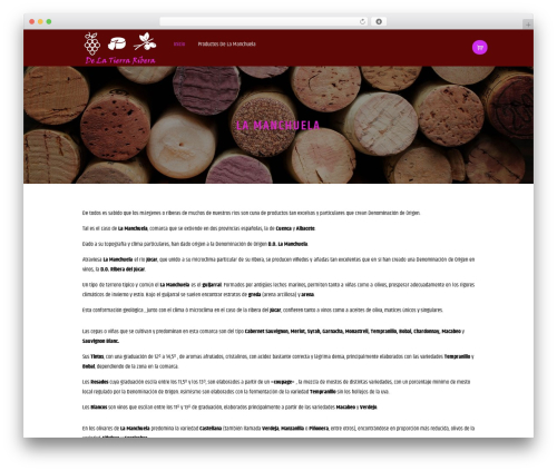 WineShop WordPress store theme - delatierraribera.com
