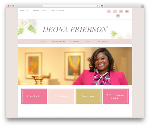 WordPress template Darling Theme - deonafrierson.com