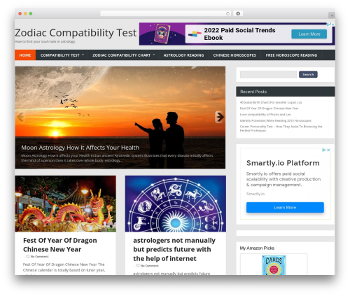 WordPress theme Combomag - zodiactest.com
