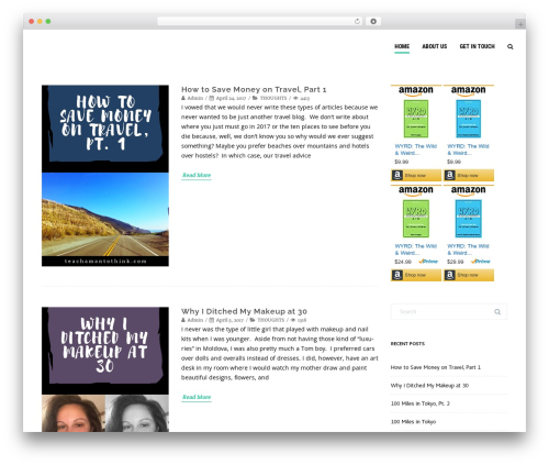 WordPress website template Agama Pro - teachamantothink.com