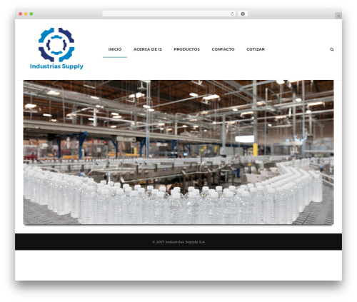 WordPress website template Industrial - industriassupply.com