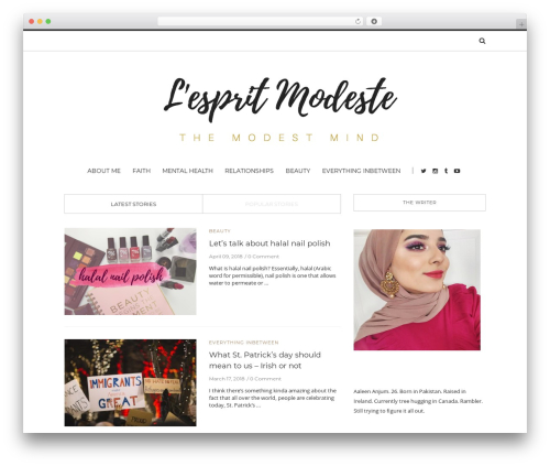 WordPress website template Solstice - lespritmodeste.com