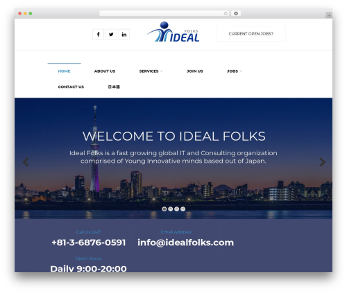 WorkScout WordPress theme - idealfolks.com