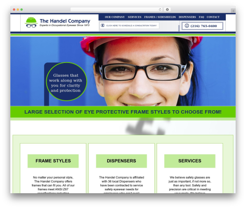 WP template Handel - handelcompany.com