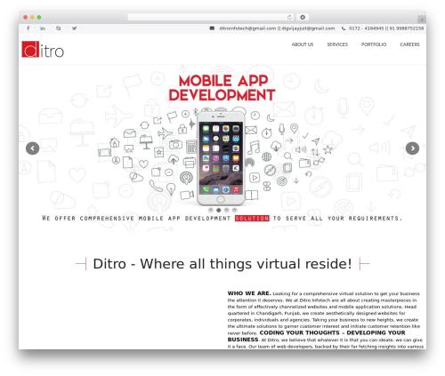 WP theme VozX - ditroinfotech.com