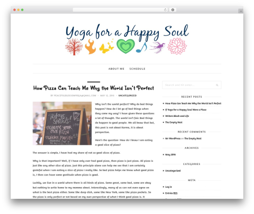 30 Day Blog Challenge WordPress template - yogaforahappysoul.com