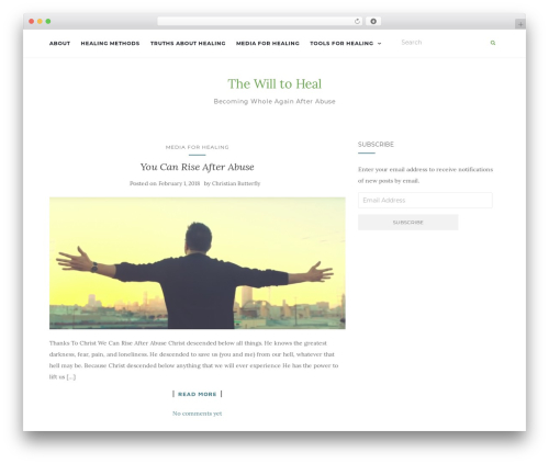 Activello template WordPress free - thewilltoheal.com