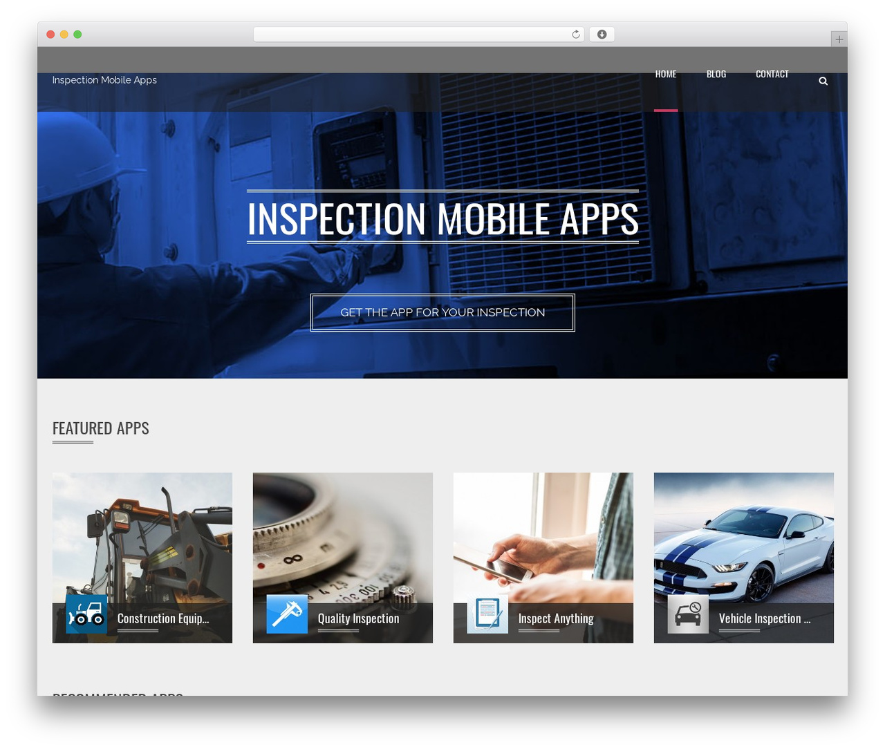 Applay WordPress theme design - inspection-mobile-apps.com