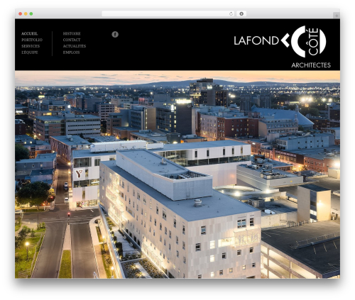 Architecture WordPress theme - lafondcote.com