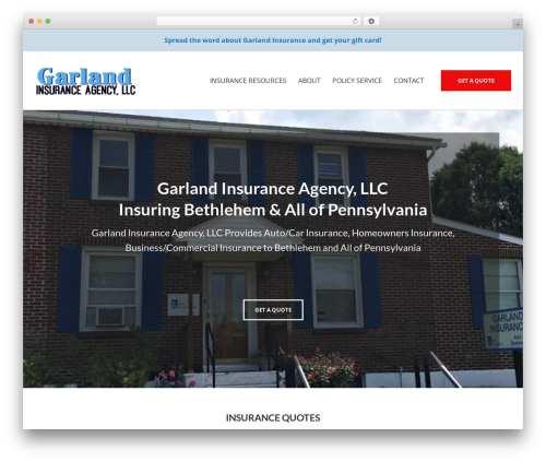 BrightFire Stellar company WordPress theme - garlandinsuranceagency.com