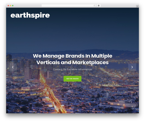 Businessx free WP theme - earthspire.com