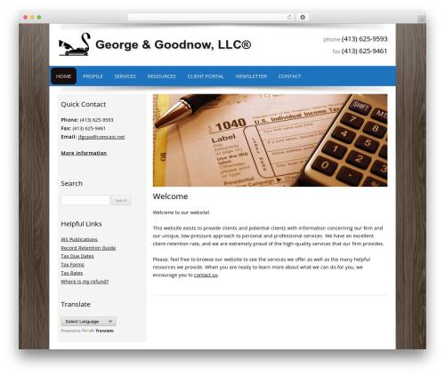 Customized best WordPress template - 89mainst.com