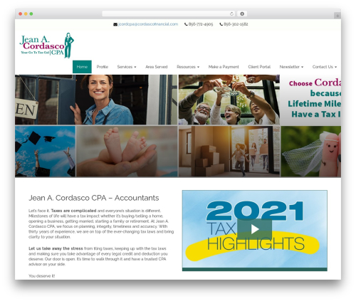 Customized3 WordPress website template - cordascofinancial.com