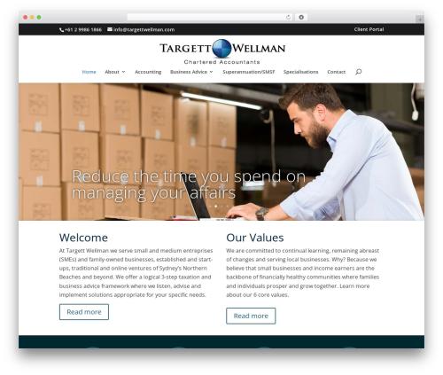 Divi WordPress theme - targettwellman.com