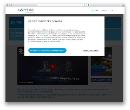 Divi WP template - sapphire-eqiom.com