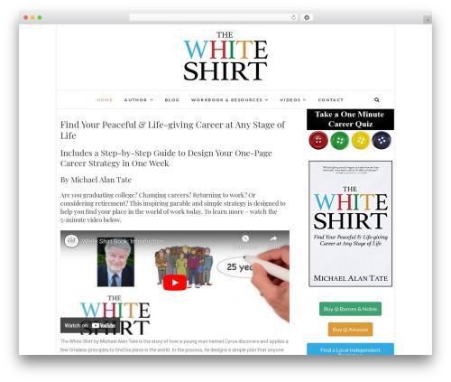 Edge best free WordPress theme - whiteshirtbook.com