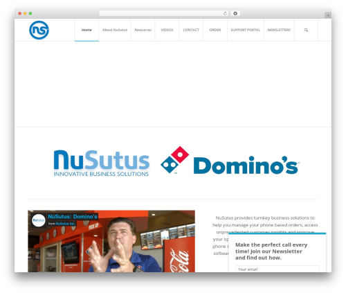 Enfold WordPress theme - nusutusdominos.com
