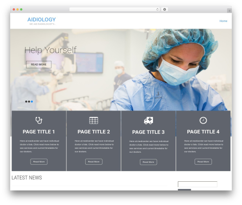 Healing Touch WordPress free download - aidiology.com